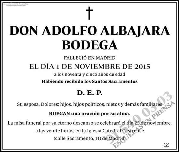 Adolfo Albajara Bodega
